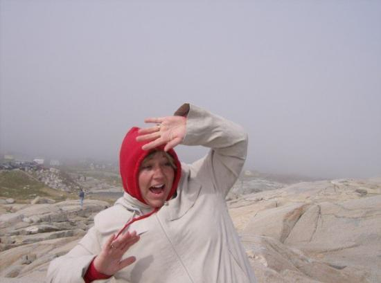 Peggy's Cove, แคนาดา: BIG WAVE!!!!! they warn you about these things!!!