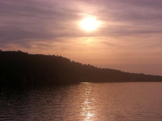 Sunset in the Wisconsin Dells