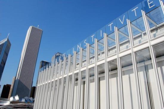 สถาบันศิลปะชิคาโก: art instiute modern wing entrance