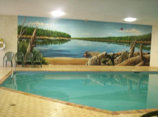 Quality Inn & Suites Bay Front: the wall murals in the pool room were magnificent