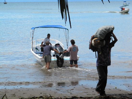 Casita Corcovado: llegando a la playa de Agujitas