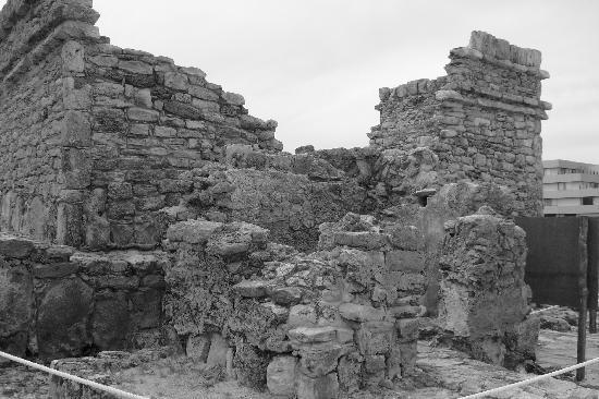 Mayan ruin on grounds