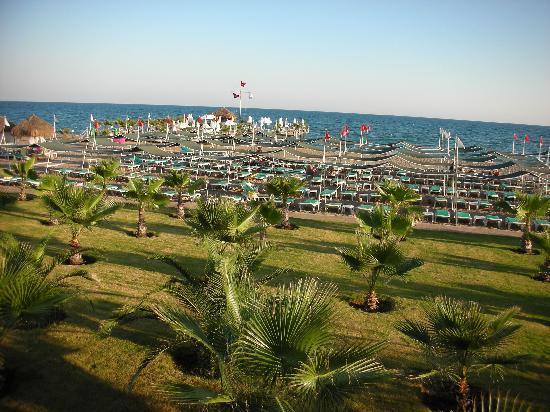 Delphin Diva Premiere: Blick über die Strandanlage