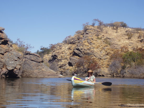Equitrails Namibia: Canoeing on the dam