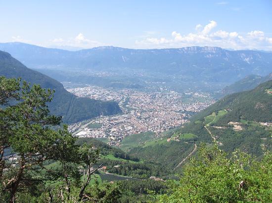 Hotel Weihrerhof: panorama su Bolzano