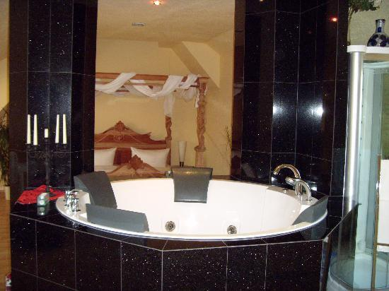 Landhotel Bannewitz (Hotel): fernsehen vom wirlpool