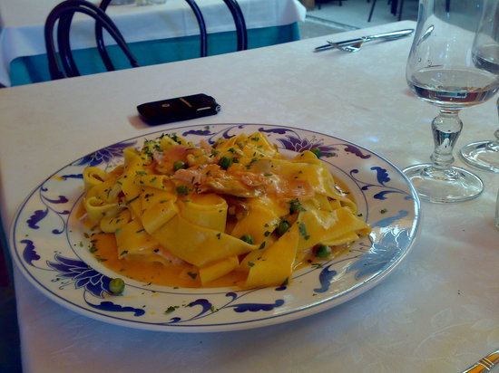 Arcore, Italy: pappardelle boscaiola
