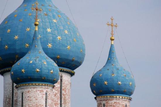 Onion domes in Suzdal, Russia
