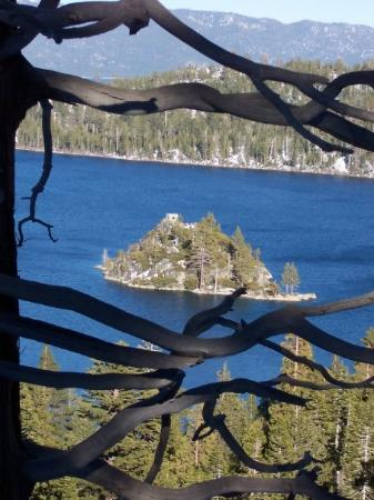 Emerald Bay State Park: Fannette Island in Emerald Bay