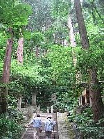 Risshaku-ji Temple: 長い階段を登ります