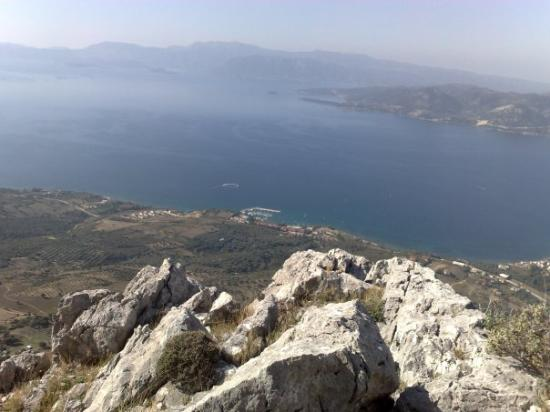 Palairos, Greece: The view from almost the Peak