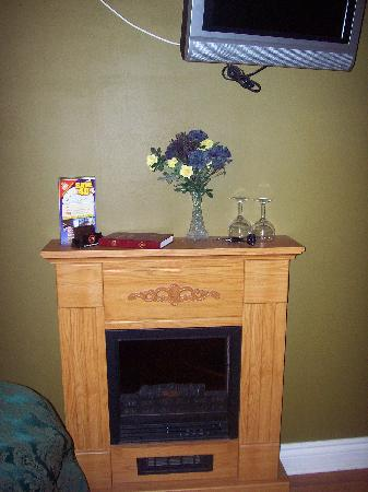 Gretna Green Bed and Breakfast : Our room was eqipped with a fireplace, wine glasses and a bottle opener!