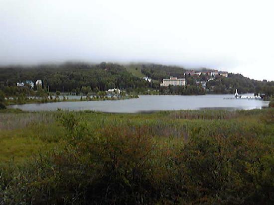 Shirakabako View Hotel: ホテル室内より撮影白樺湖
