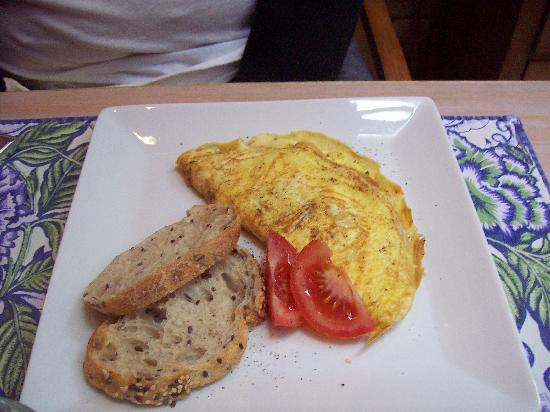 Lindsey's Bed and Breakfast for Women: Delicious veggie omelette