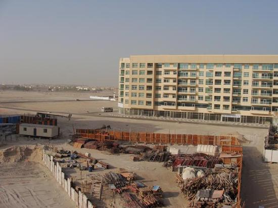 Rose Garden Hotel Apartments Al Barsha View From My Balcony Scorching Sun
