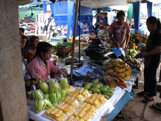 Vientiane, Laos: Inside the Morning Market