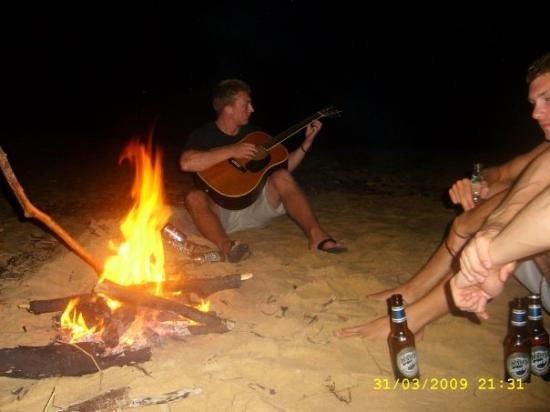 Mission Beach Avin A Sing Song Round The Campfire