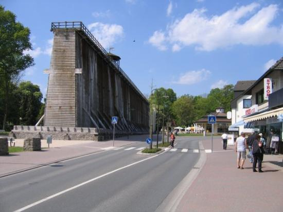 Bad Rothenfelde, Deutschland: The Selin wall, this wall is one of two walls in the town and is the smaller. The second wall is
