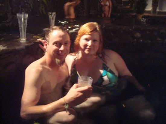 บากาเซส, คอสตาริกา: Me and Patt at Ecothermales hot springs