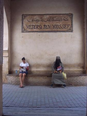 อาลีเบนยูเซฟเมเดรซา: New school versus old school... Marrakech, Morocco.