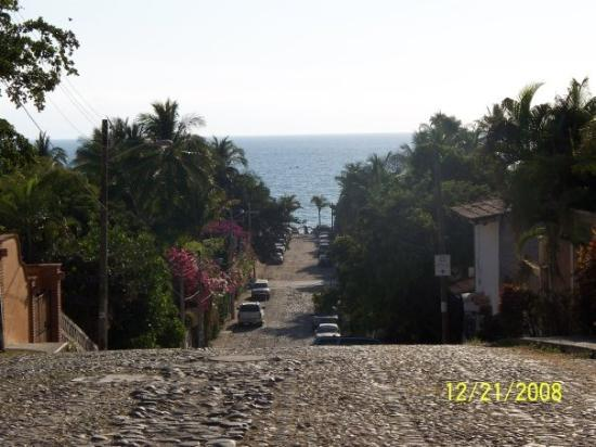 Bucerias, Mexico: the beach is thata way ( some street on one of my walks)