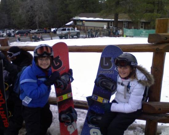 Snow Summit: Ben and Katie snowboarding in Big Bear, Winter 2008