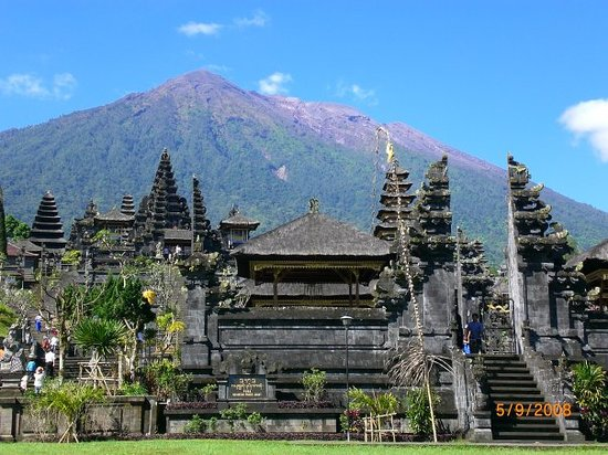 Kintamani, Endonezya: Bersakih temple, and Gunung Agong