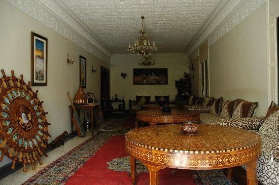 Villa Flora : salon de la villa