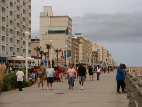Virginia Beach boardwalk from south end - Picture of