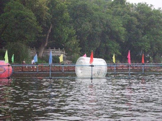 Martyr's Park : Children can climb around in these big floating spools