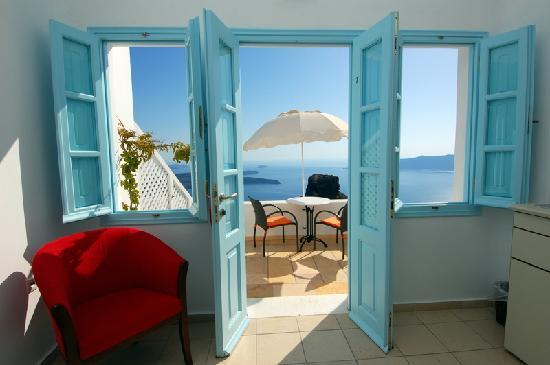 Tholos Resort: View from our bed
