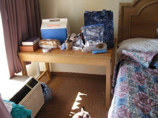 Days Inn Fort Worth West: jammed-in huge table