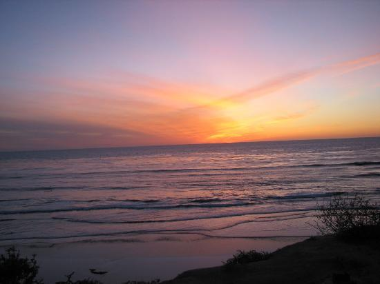 San Elijo State Beach Campground: sunset