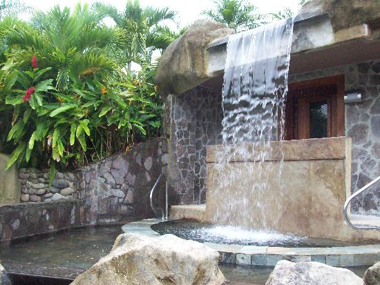 The Royal Corin Thermal Water Spa & Resort: One of the two waterfalls for a free hydromassage!