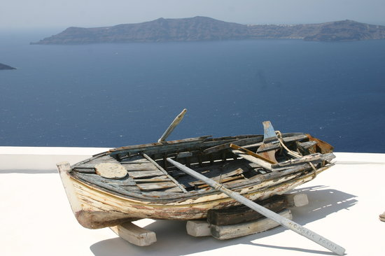 Imerovigli, Grecia: View from above the Homer hotel