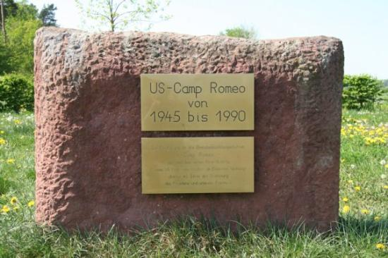 Bad Hersfeld, Germany: A close-up of the OP Romeo memorial.