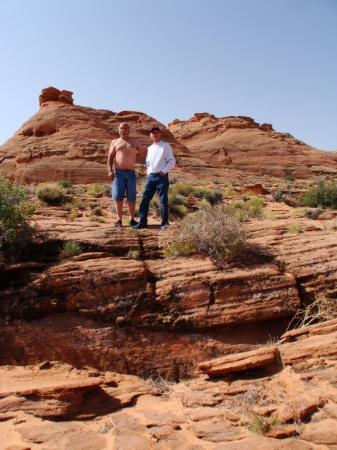 Dad and uncle Ralph at lake powell