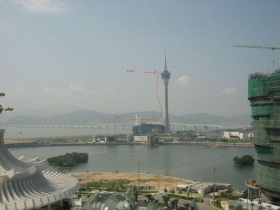 Macau, China: 10 sec free fall....233 metres...highest bungy jump in the world (2nd.queenstown.new zealand.140