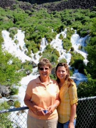 Gooding, ID: Gramma & I at Little Niagra