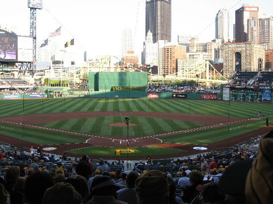 PNC Park: The field with the city of Pittsburgh in the outfield