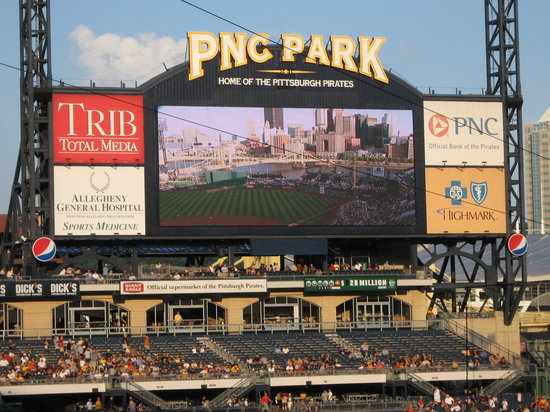 ‪‪PNC Park‬: The scoreboard‬