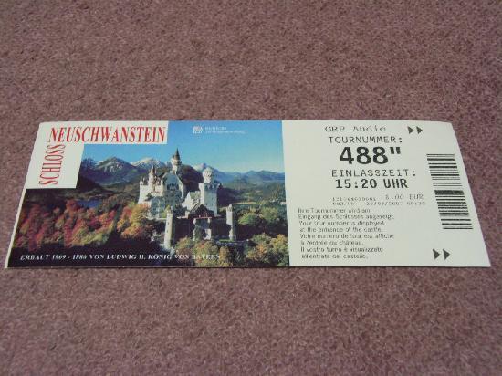 Hohenschwangau, เยอรมนี: 入場チケット
