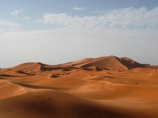 Merzouga, Morocco: Sand dunes in the Sahara
