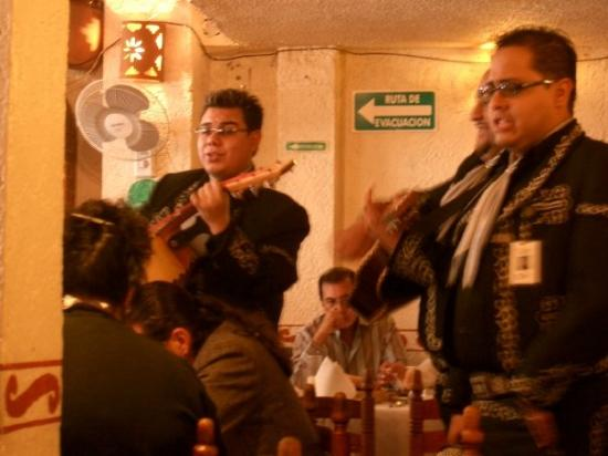 Ciudad de México, México: Mariachi singers at a local restaurant in Mexico City.  Great melodious singers, and yes they do
