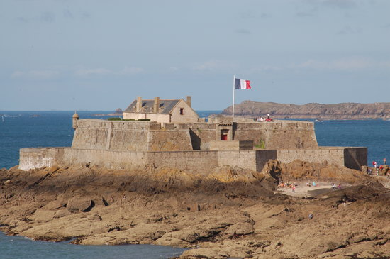 L'Ancrage: Scene of St. Malo - One of the Forts Guarding the Approaches