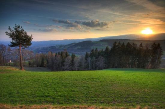 Wolfsberg, Austria: Sunset in the Lavanttal Valley