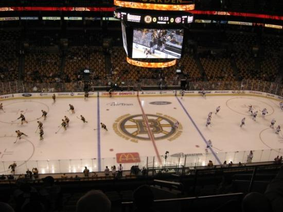TD Garden: The Bruins and Canadiens warmup!!!