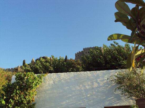 Melenos Lindos Hotel: vista dell'acropoli dalla nostra terrazza