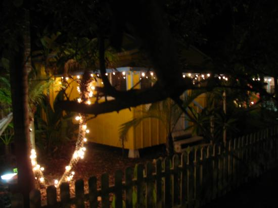 Beach Palms: Our cottage at night