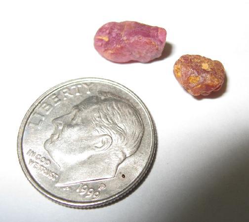 Cherokee Ruby & Sapphire Mine: Native raw rubies found at the mine